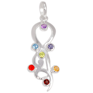 Healing Chakra 925 Sterling Silver Pendant Jewelry CP158