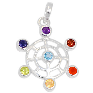 Spider Web Chakra 925 Sterling Silver Pendant Jewelry CP162