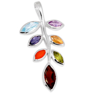 Leaf Chakra 925 Sterling Silver Pendant Jewelry CP142