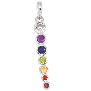 Healing Chakra 925 Sterling Silver Pendant Jewelry CP101