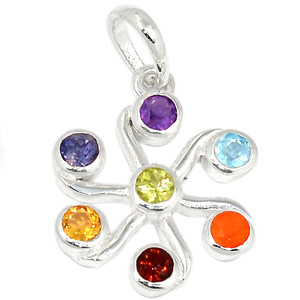 Healing Chakra 925 Sterling Silver Pendant Jewelry CP174