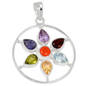 Healing Chakra 925 Sterling Silver Pendant Jewelry CP130