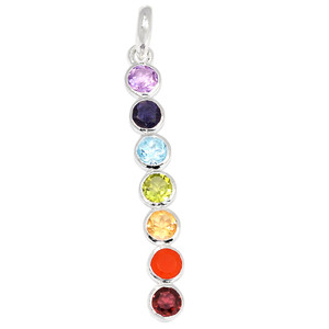 Healing Chakra 925 Sterling Silver Pendant Jewelry CP176