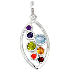 Healing Chakra 925 Sterling Silver Pendant Jewelry CP180