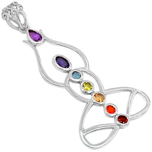 Healing Chakra 925 Sterling Silver Pendant Jewelry CP236