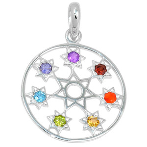 Inanna Star Chakra 925 Sterling Silver Pendant Jewelry AAACP164