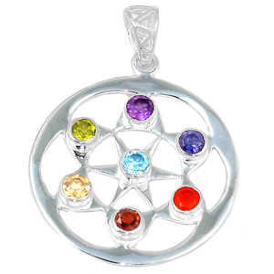 Healing Chakra 925 Sterling Silver Pendant Jewelry CP198