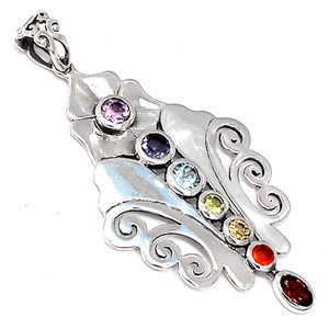 Healing Chakra 925 Sterling Silver Pendant Jewelry CP230