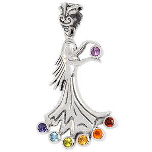Fairy Angel Chakra 925 Sterling Silver Pendant Jewelry CP209