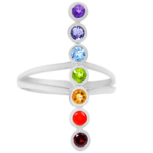 Healing Chakra 925 Sterling Silver Ring Jewelry s.6 CP109-6