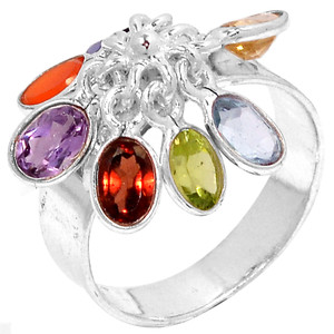 Well Being Chakra 925 Sterling Silver Ring Jewelry s.7 CP212-7