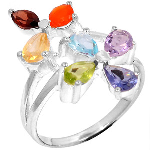 Healing Chakra 925 Sterling Silver Ring Jewelry s.7 CP219-7