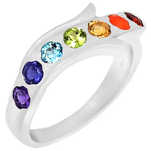 Healing Chakra 925 Sterling Silver Ring Jewelry s.7 CP222-7