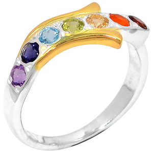 Healing Chakra 925 Sterling Silver Ring Jewelry s.8 CP224-8