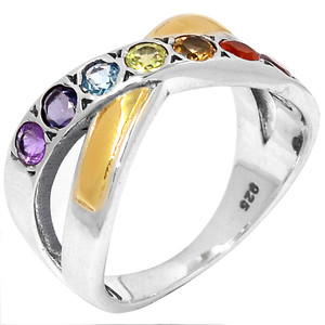 Healing Chakra 925 Sterling Silver Ring Jewelry s.9 CP225-9