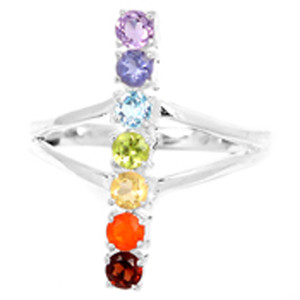 Healing Chakra 925 Sterling Silver Ring Jewelry s.8 CP226-8