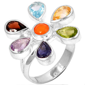 Healing Chakra 925 Sterling Silver Ring Jewelry s.8 CP119-8