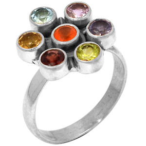 Healing Chakra 925 Sterling Silver Ring Jewelry s.6 CP120-6