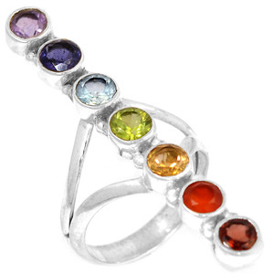 Healing Chakra 925 Sterling Silver Ring Jewelry s.8 CP121-8