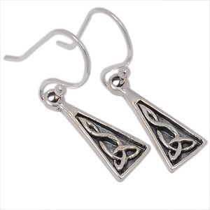 Celtic 925 Sterling Silver Earrings Plain Design Jewelry SPJ2059