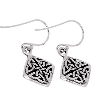 Celtic 925 Sterling Silver Earrings Plain Design Jewelry SPJ2016