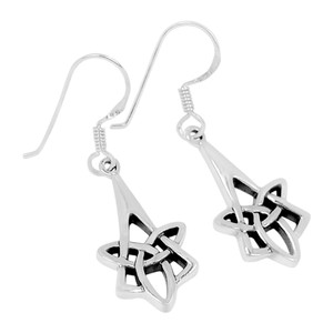 Celtic 925 Sterling Silver Earrings Plain Design Jewelry SPJ2033