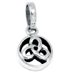 Celtic 925 Sterling Silver Pendant Plain Design Jewelry SPJ2067
