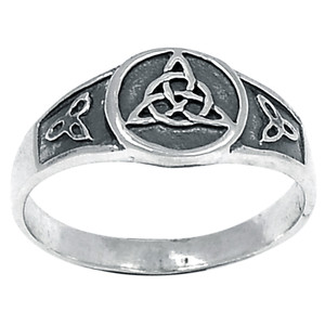 Celtic 925 Sterling Silver Ring Plain Design Jewelry s.8 SPJ2154-8