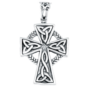 Celtic Cross 925 Sterling Silver Pendant Plain Design Jewelry AAASPJ2098