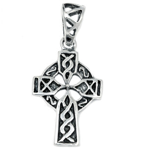Celtic Cross 925 Sterling Silver Pendant Plain Design Jewelry SPJ2069