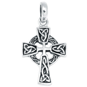 Celtic Cross 925 Sterling Silver Pendant Plain Design Jewelry SPJ2099