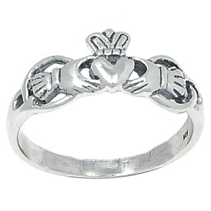 Claddagh 925 Sterling Silver Ring Plain Design Jewelry s.7 SPJ2148-7