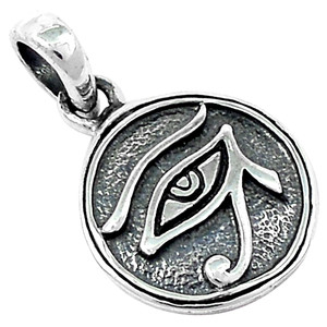 Eye of Horus 925 Sterling Silver Pendant Plain Design Jewelry SPJ2106