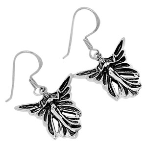 Fairy 925 Sterling Silver Earrings Plain Design Jewelry SPJ2046