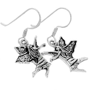 Fairy 925 Sterling Silver Earrings Plain Design Jewelry SPJ2072