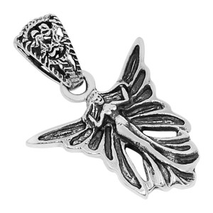 Fairy 925 Sterling Silver Pendant Plain Design Jewelry SPJ2045