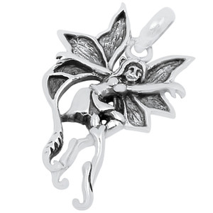 Fairy 925 Sterling Silver Pendant Plain Design Jewelry SPJ2195