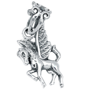 Pegasus / Flying Horse 925 Sterling Silver Pendant Plain Design Jewelry AAASPJ2023