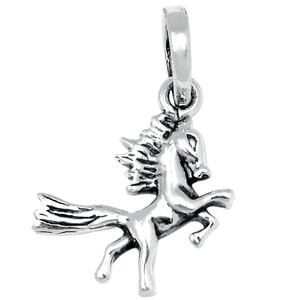 Pegasus / Flying Horse 925 Sterling Silver Pendant Plain Design Jewelry SPJ2047