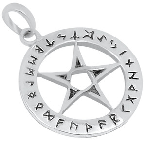 Pentacle Pentagram 925 Sterling Silver Pendant Plain Design Jewelry AAASPJ2199
