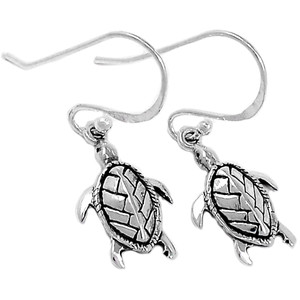 Tortoise 925 Sterling Silver Earrings Plain Design Jewelry SPJ2081