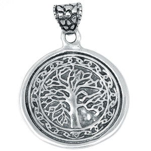 Tree of Life 925 Sterling Silver Pendant Plain Design Jewelry SPJ2060
