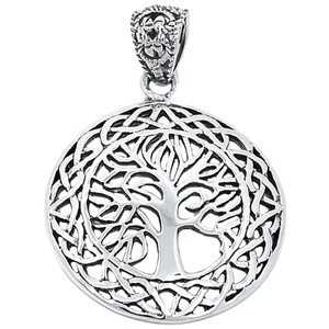 Tree of Life 925 Sterling Silver Pendant Plain Design Jewelry AAASPJ2050