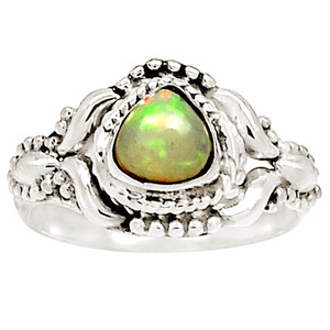 Ethiopian Opal 925 Sterling Silver Ring Jewelry s.6 12548R