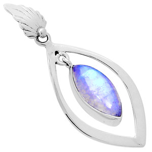 Moonstone 925 Sterling Silver Pendant Jewelry 12774P