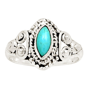 Sleeping Beauty Turquoise 925 Sterling Silver Ring Jewelry s.6.5 12666R