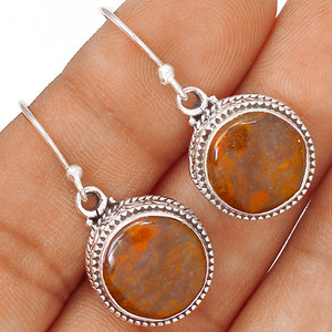 African Brown Pietersite 925 Sterling Silver Earrings Jewelry EE65722