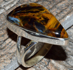 Pietersite 925 Sterling Silver Ring Jewelry s.7 JJ7229