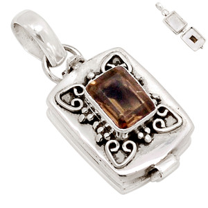 Poison - Smoky Topaz 925 Sterling Silver Pendant Jewelry PP16857P