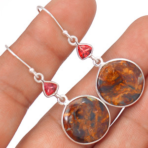 Pietersite 925 Sterling Silver Earrings Jewelry 64501
